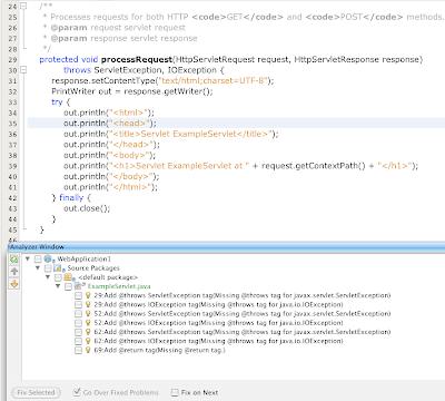 Netbeans 6.1 Javadoc Auto Comments Javadoc Comment