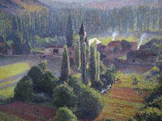 Henri Martin : La Bastide-du-vert et Marquayrol (détail)