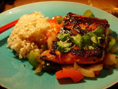 False epiphany pan seared salmon with thai basil sauce for Asia asian cuisine richmond hill menu