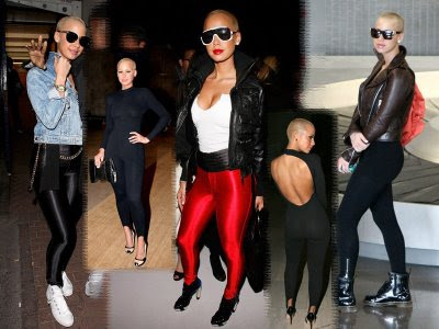 amber rose with hair long. hot amber rose with long hair.