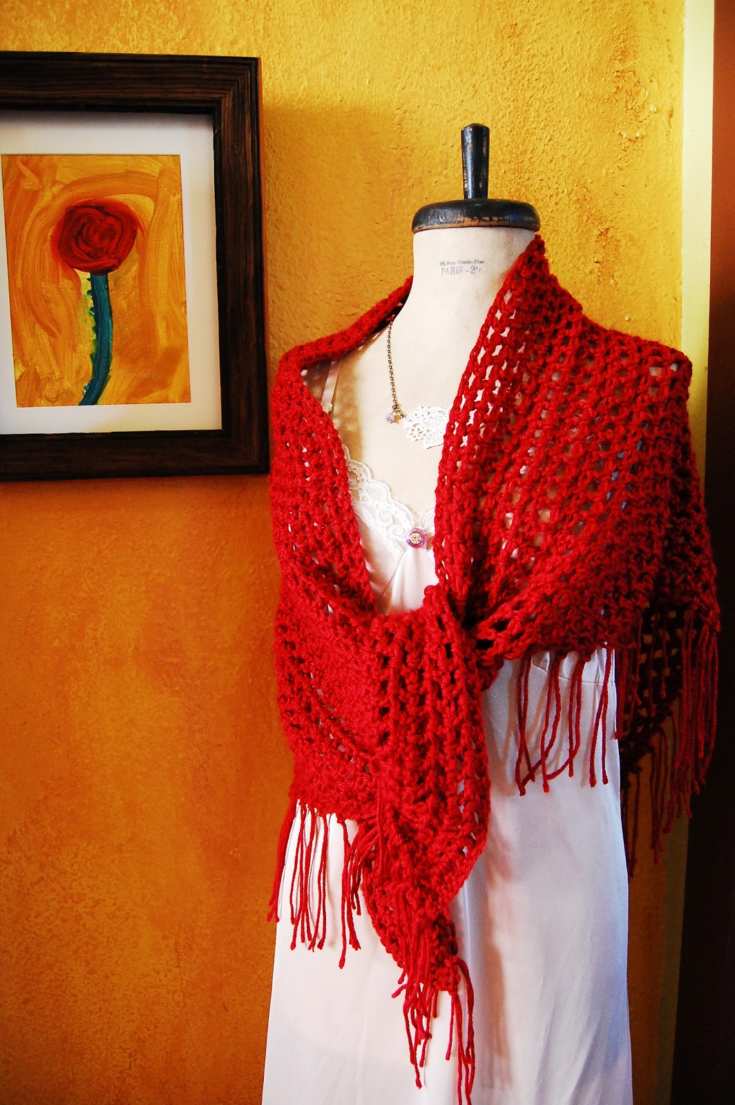 Maize Hutton: Sweet November: An Easy Crocheted Shawl