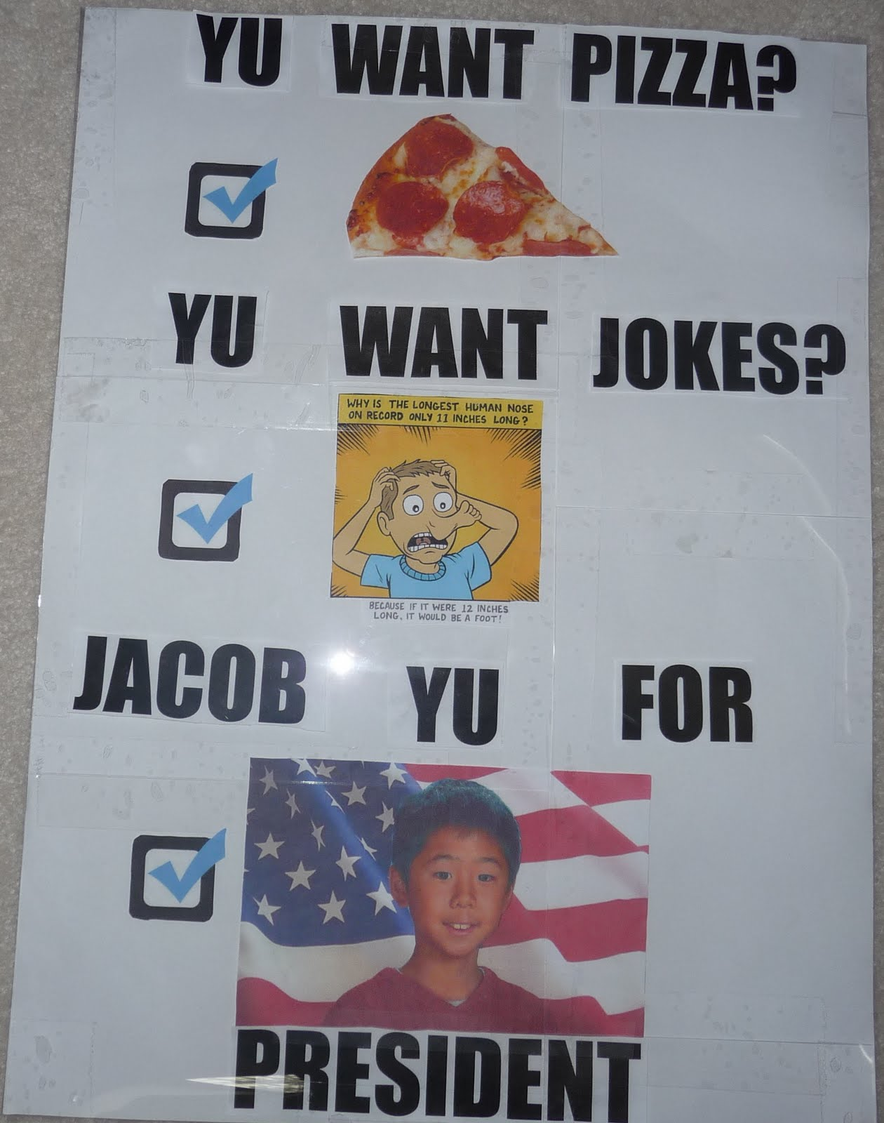 Spazzy Mommy: Jacob's Student Council President Campaign