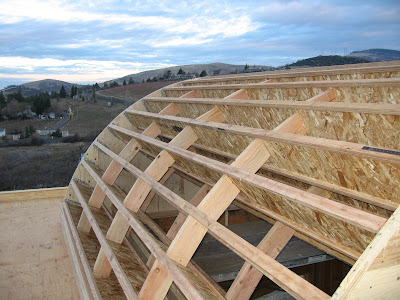 Martin 39 s carpentry for Barrel roof trusses
