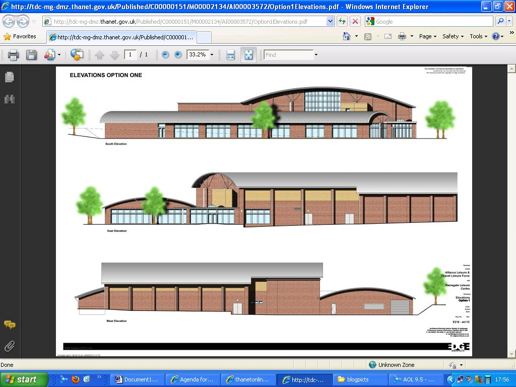 Thanetonline Ramsgate Swimming Pool Plans Sort Of Published