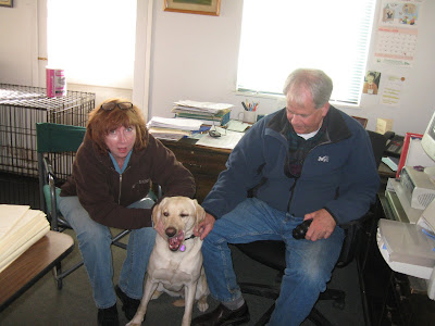 Poppy with Lorraine and Randy