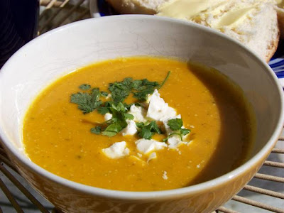 When I'm bored I make soup: Thai spiced Pumpkin and Kumara soup