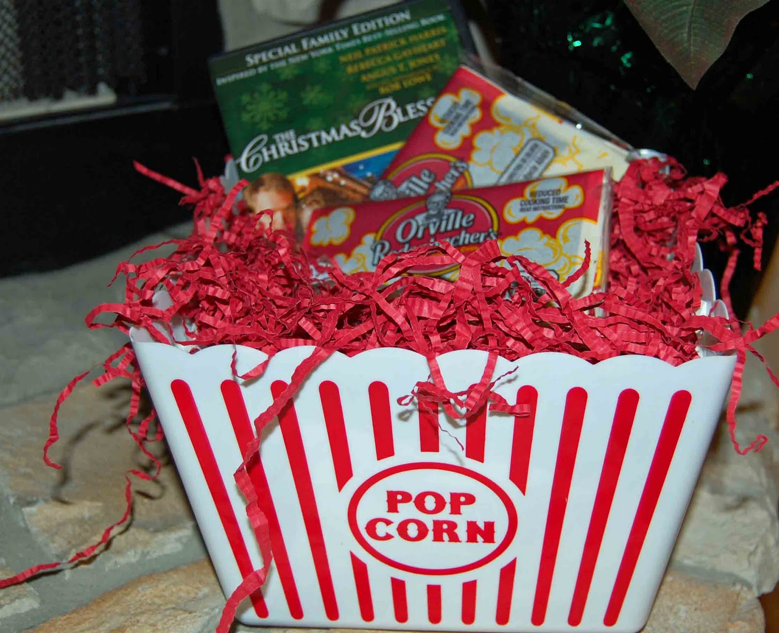 Movie night gift baskets for christmas