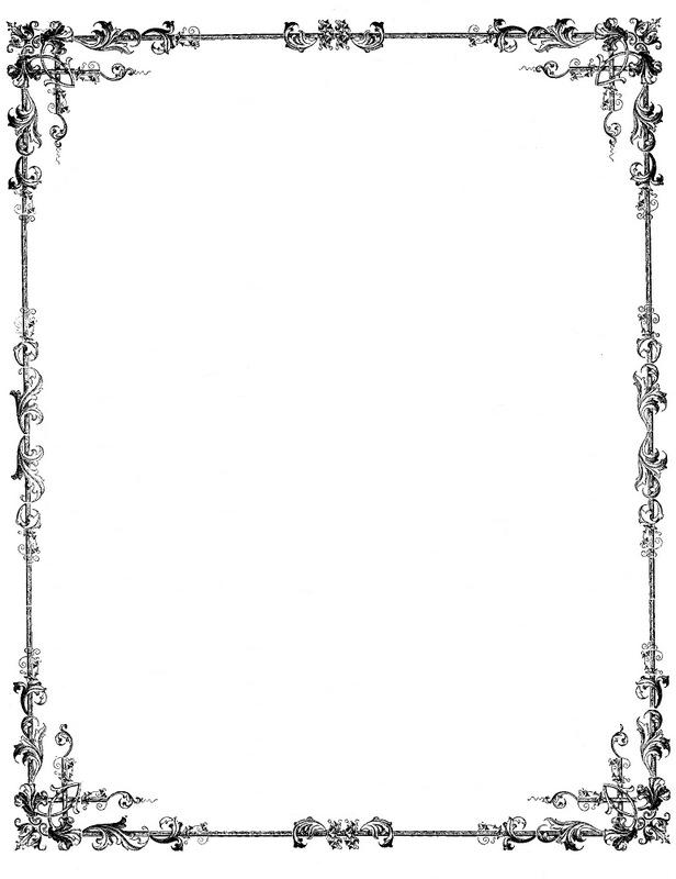 beautiful frames for scrap booking and altered art all free clip art