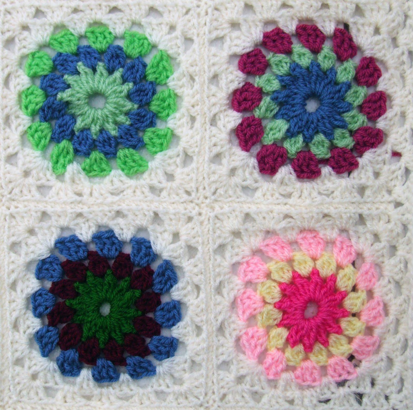 Crochet Flower Blanket : Field of Flowers Crochet Throw - leonie morgan