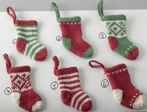 Elins kreative side: Knitted mini Christmas stockings