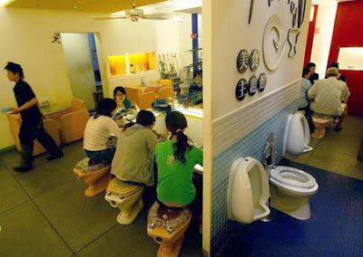 taiwan's modern toilet restaurant