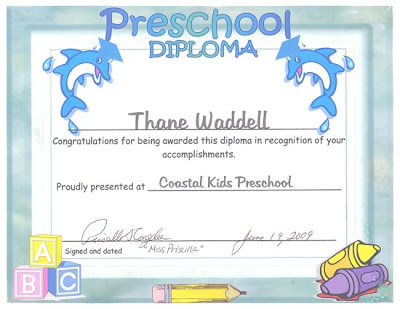 pre school graduation. Thane#39;s Preschool Graduation