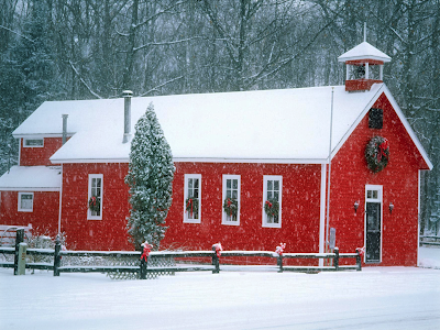 snow wallpaper winter wallpaper old school house