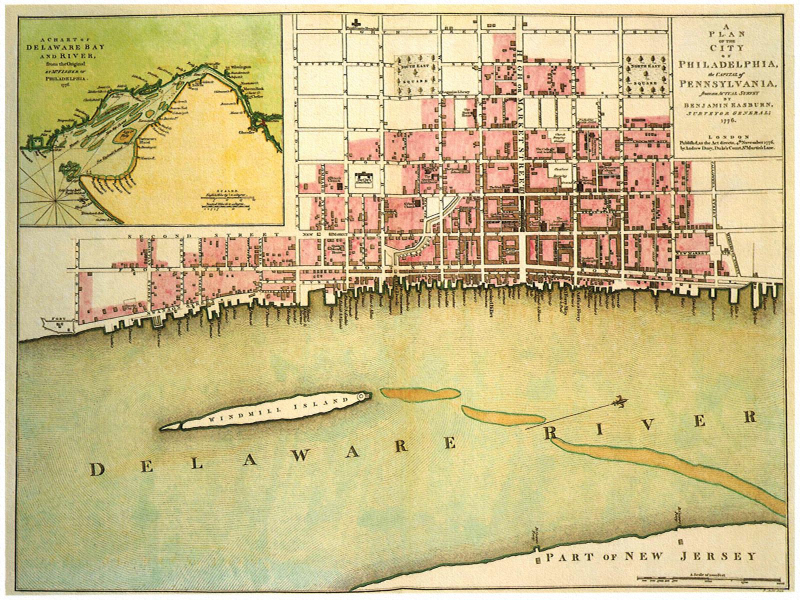 1776 Philadelphia Plan  Maps  Pinterest