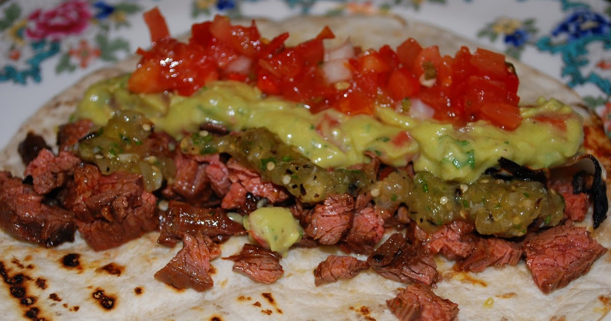 ... Hollow: Skirt Steak Tacos with Guacamole and Roasted Tomatillo Salsa