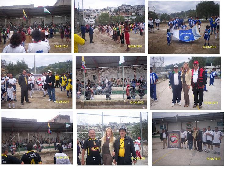 INAUGURACION DE LOS CAMPEONATOS OFICIALES DE  INDOORFUTBOL CATEGORIA DAMAS y MASTER 2010
