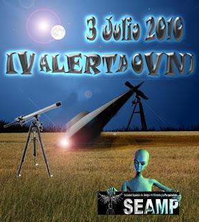 Cartel de la alerta OVNI del SEAMP 2010