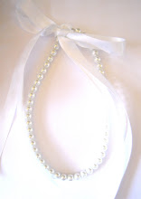 HeaVeNLy wHiTe 8mm PeaRL & RiBBoN NecKLaCe