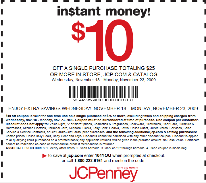 Jcpenney 2013 printable 10 off rachael edwards for Jc penneys