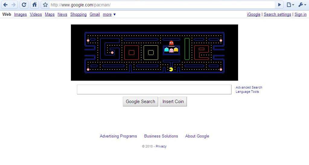 Pacman Google Cheats