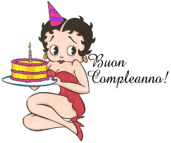 Betty Boop Pictures Archive Betty Boop Happy Birthday Italian