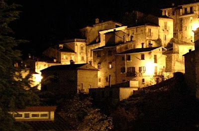 panorama notturno, Scanno