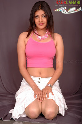 Hot photoshoot of KAJAL AGARWAL in pink dress