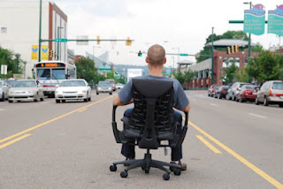 Embody Chair in the Street