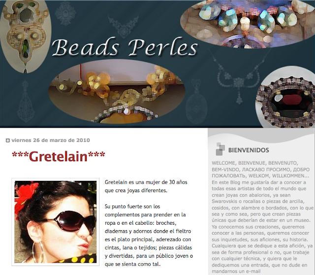 Gretelain en Beads Perles, y showroom