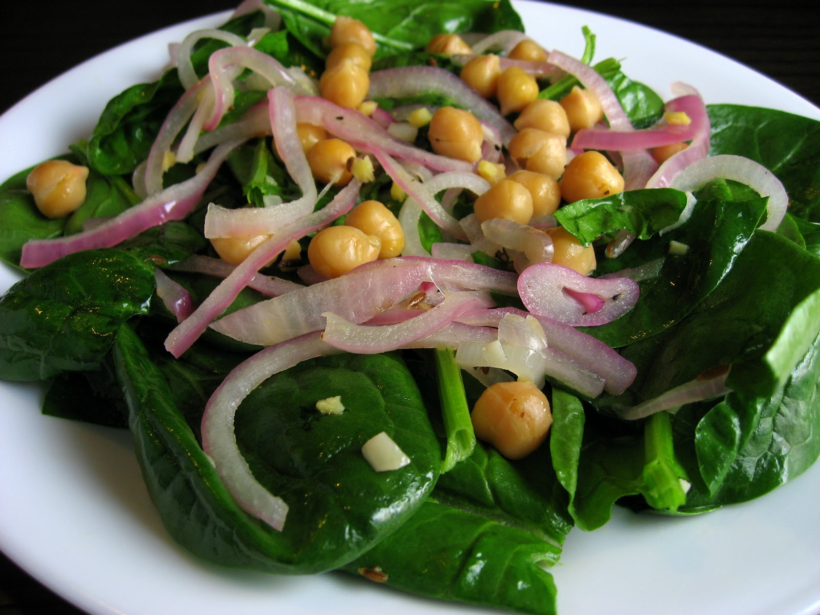 Robyn Cooks: Warm Chickpea Salad with Spinach