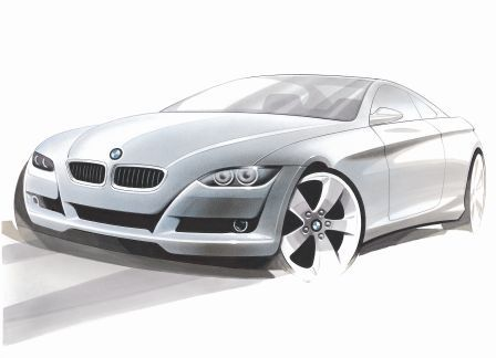 bmw drawing car