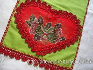 : قلوب من القماش بحواف من الكروشية verde1.jpg