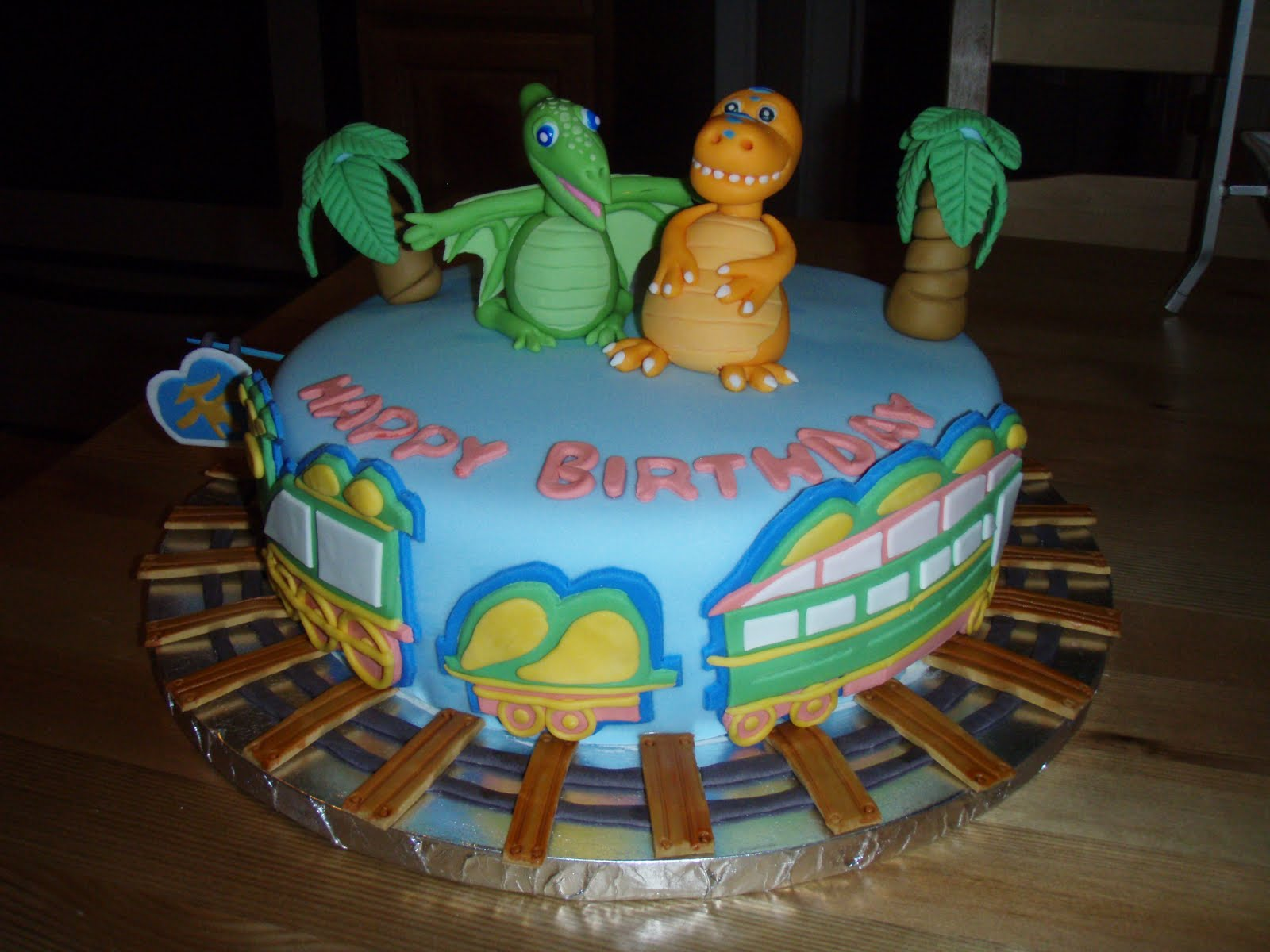 Dinosaur Train Cake Images : For Batter or For Worse...: 4th Birthday Cake: Dinosaur Train