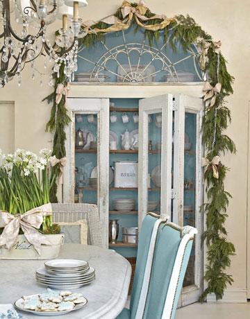 C b i d home decor and design christmas decor colors of - Blue and white christmas decor ...