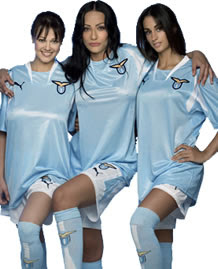 lazio home shirt sexy football babes