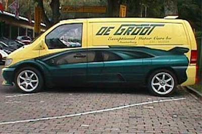 custom paint van car