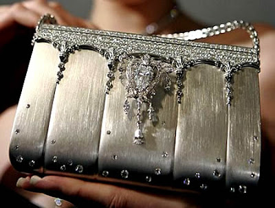 diamond encrusted covered handbag