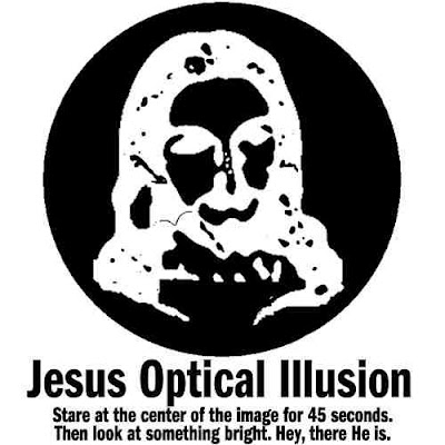 jesus optical illusion