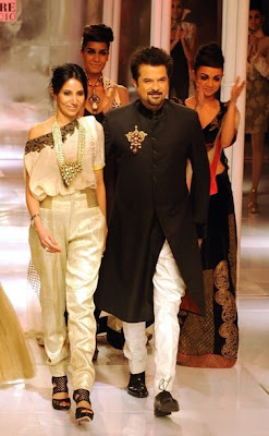 New Delhi ,july 23 Anil Kapoor is Walked the ramp.