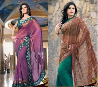 Zarine Khan is looks wonderful in black sarees
