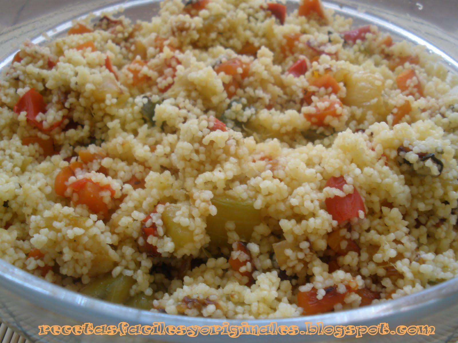 Recetas de cocina f ciles y originales cusc s con verduras - Rectas de cocina faciles ...