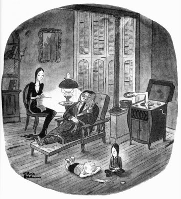 La familia Addams - Gomez - Morticia - Charles Addams