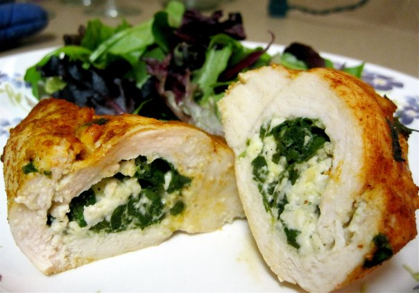 Sunday Dinners: Something Old: Feta & Spinach Stuffed Chicken