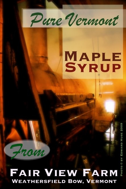 Sap is running! - and the sugar shack is adrift in great clouds of honey-hued clouds