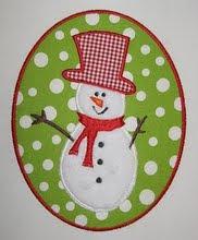 Snowman Patch