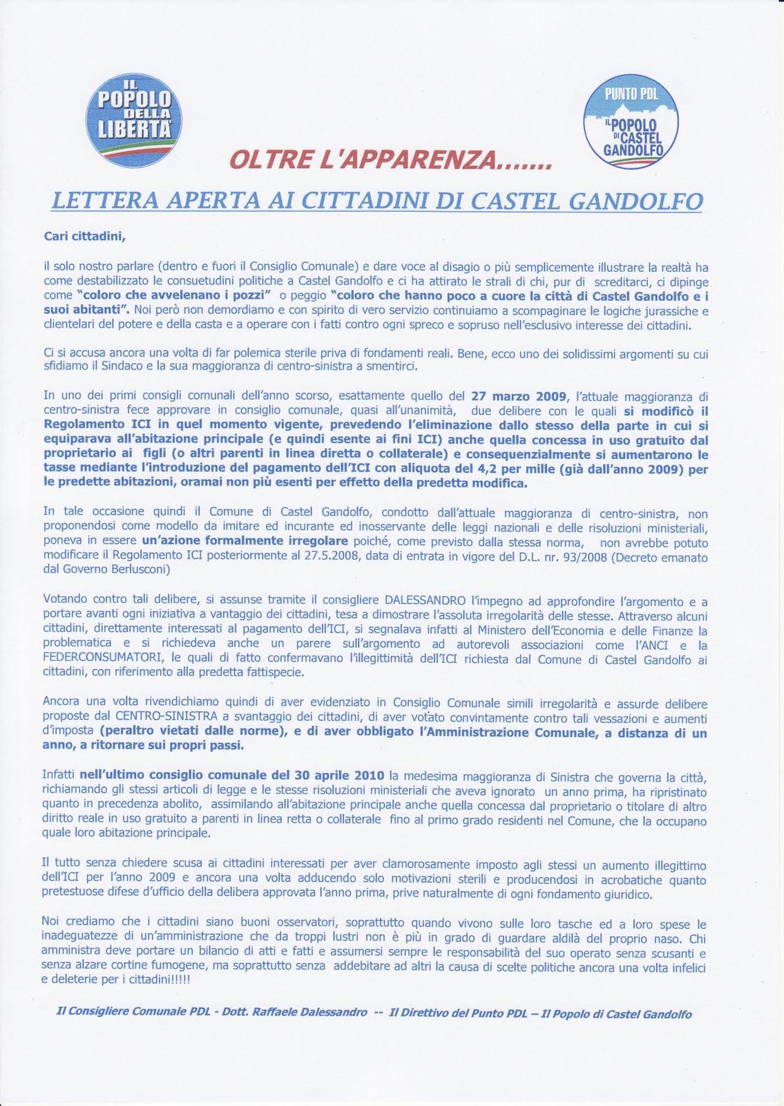 Ultimo Manifesto del PDL