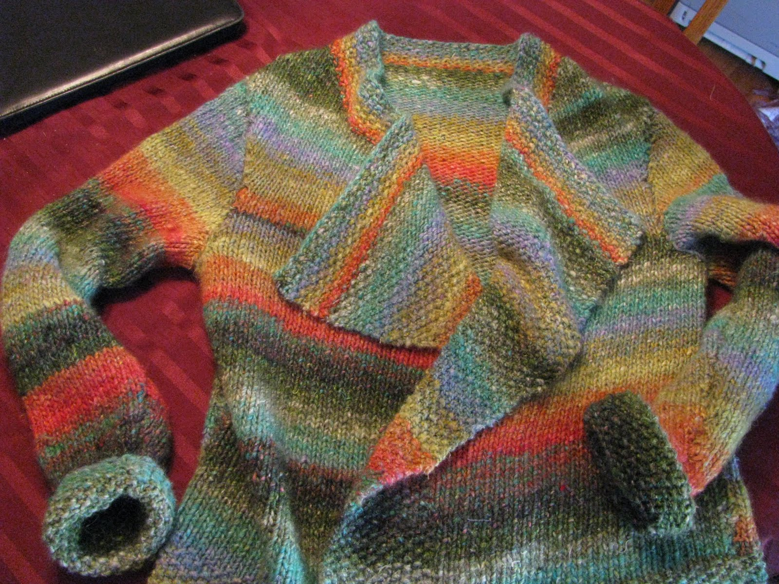 Chris Knits in Niagara: Noro Chunky Silk Garden Coat