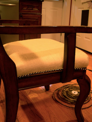 Dining room chair upholstery