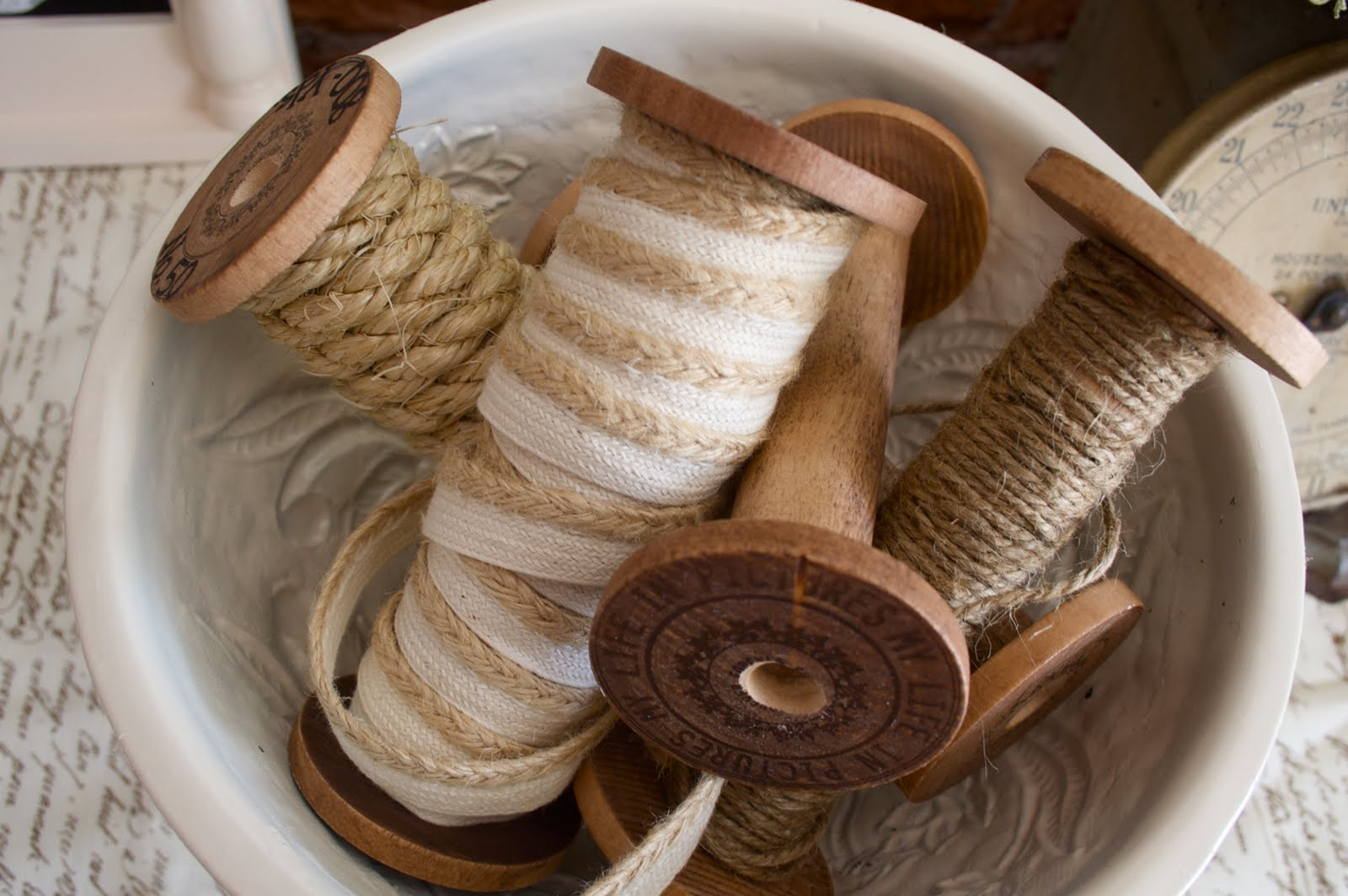 MYO Vintage Spools  Fall VignetteHome Stories A to Z