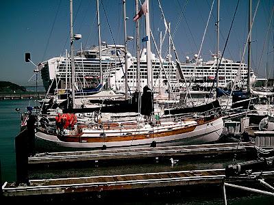 Princess Cruise ships docked at Pier 35 in San Francisco Bay. Pier 35 docks.
